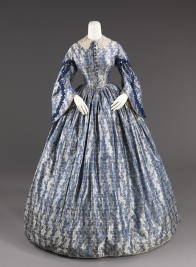 Wedding Dress, circa 1860. United States. Silk, cotton. Brooklyn Museum Costume Collection at The Metropolitan Museum of Art, Gift of the Brooklyn Museum, 2009; Gift of the Jason and Peggy Westerfield Collection, 1969. 2009.300.923