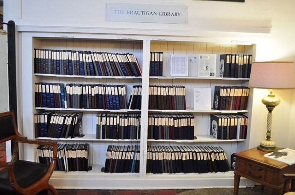 Brautigan Library room with bookshelves
